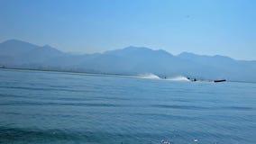 Μπλε νερά της λίμνης Inle, το Μιανμάρ φιλμ μικρού μήκους