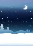 μπλε νύχτα Χριστουγέννων Διανυσματική απεικόνιση