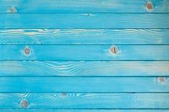 Μπλε ξύλινη κάλυψη Στοκ Εικόνες