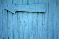 Μπλε ξύλινος τοίχος χρώματος Στοκ εικόνες με δικαίωμα ελεύθερης χρήσης