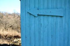 Μπλε ξύλινος τοίχος χρώματος Στοκ Φωτογραφίες