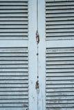 Μπλε ξύλινο louver στοκ φωτογραφία με δικαίωμα ελεύθερης χρήσης