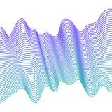 μπλε ομαλά κύματα αφηρημένο διάνυσμα γραμμών Επίδραση μίγματος διανυσματική απεικόνιση