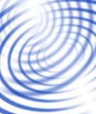 μπλε ομόκεντρες γραμμές Στοκ Φωτογραφία