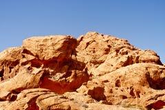 μπλε ουρανοί βράχων διάβρωσης κόκκινοι κάτω Στοκ Εικόνα
