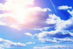 μπλε ουρανός ανασκόπησησ στοκ εικόνες