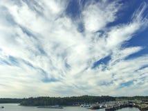 μπλε ουρανός ανασκόπηση&sigma Στοκ Εικόνες