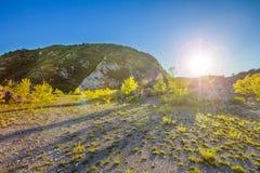 Μπλε ουρανός βουνών βλάστησης άμμου clifs Στοκ Εικόνες