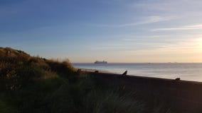 Μπλε ουρανός βρετανικής θάλασσας κρουαζιερόπλοιων στοκ φωτογραφίες