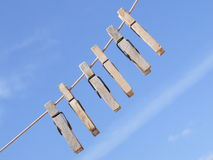 μπλε ουρανός γόμφων s υφασ& Στοκ Φωτογραφία