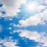 μπλε ουρανός θάλασσας ηλιόλουστος Στοκ φωτογραφία με δικαίωμα ελεύθερης χρήσης