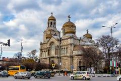 Μπλε ουρανός καθεδρικών ναών της Βάρνας, Βουλγαρία Στοκ εικόνα με δικαίωμα ελεύθερης χρήσης
