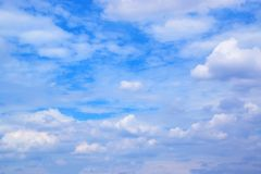 Μπλε ουρανός με τα άσπρα σύννεφα 171016 0086 Στοκ εικόνες με δικαίωμα ελεύθερης χρήσης