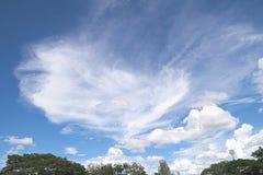 Μπλε ουρανός με τα σύννεφα ένα καλοκαίρι Στοκ εικόνα με δικαίωμα ελεύθερης χρήσης