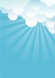 Μπλε ουρανός με τα σύννεφα beautifull απεικόνιση αποθεμάτων