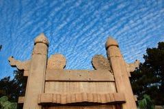 μπλε ουρανός μνημείων κάτω Στοκ Εικόνες