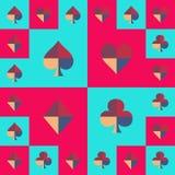 Μπλε ουρανός πινάκων σκακιού κοστουμιών καρτών και ρόδινο σχέδιο επίσης corel σύρετε το διάνυσμα απεικόνισης απεικόνιση αποθεμάτων