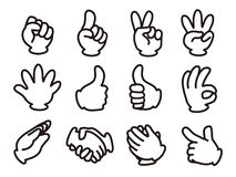 μπλε ουρανός σημάτων χεριών ανθρώπινος διανυσματική απεικόνιση
