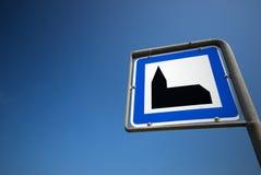 μπλε ουρανός σημαδιών εκ&k Στοκ φωτογραφία με δικαίωμα ελεύθερης χρήσης