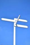μπλε ουρανός σημαδιών Στοκ φωτογραφία με δικαίωμα ελεύθερης χρήσης
