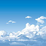 μπλε ουρανός σύννεφων διανυσματική απεικόνιση