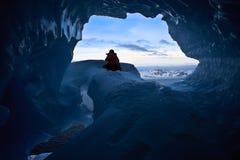 μπλε πάγος σπηλιών Στοκ Εικόνες