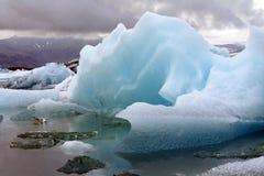Μπλε πάγος χρώματος στοκ εικόνα με δικαίωμα ελεύθερης χρήσης