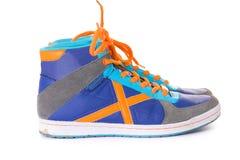 μπλε πάνινα παπούτσια Στοκ φωτογραφίες με δικαίωμα ελεύθερης χρήσης
