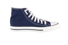 μπλε πάνινο παπούτσι Στοκ Φωτογραφίες
