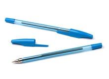 μπλε πέννες δύο Στοκ φωτογραφίες με δικαίωμα ελεύθερης χρήσης