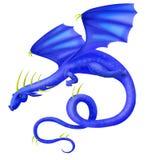 μπλε πέταγμα δράκων Απεικόνιση αποθεμάτων
