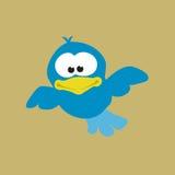 μπλε πέταγμα πουλιών Στοκ Φωτογραφίες