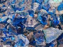 Μπλε πέτρα χαλαζία, φραγμοί γυαλιού Στοκ Φωτογραφία