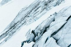 Μπλε παγετώνας ως υπόβαθρο κλείστε επάνω Στοκ Φωτογραφίες