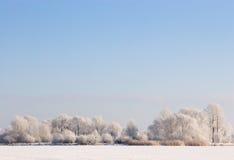 μπλε παγωμένος ουρανός σ& Στοκ Φωτογραφίες