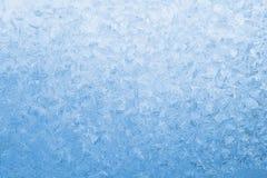 μπλε παγωμένο ελαφρύ παράθ Στοκ εικόνες με δικαίωμα ελεύθερης χρήσης