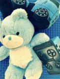 Μπλε παιχνίδια Στοκ εικόνες με δικαίωμα ελεύθερης χρήσης