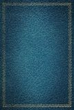 μπλε παλαιά σύσταση δέρματος πλαισίων χρυσή Στοκ Εικόνες