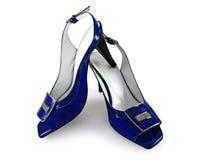 μπλε παπούτσια Στοκ Εικόνα