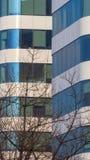 Μπλε παράθυρα ενός κτιρίου γραφείων Στοκ φωτογραφία με δικαίωμα ελεύθερης χρήσης