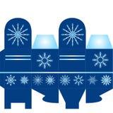 Μπλε παρόν κιβώτιο Στοκ Φωτογραφίες