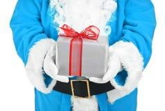 μπλε παρόν santa εκμετάλλευσ Στοκ Φωτογραφία