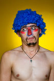 μπλε περούκα κλόουν Στοκ φωτογραφία με δικαίωμα ελεύθερης χρήσης