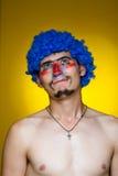 μπλε περούκα κλόουν Στοκ φωτογραφίες με δικαίωμα ελεύθερης χρήσης