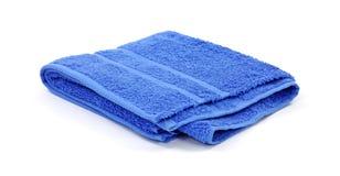 μπλε πετσέτα terrycloth λουτρών στοκ φωτογραφία με δικαίωμα ελεύθερης χρήσης