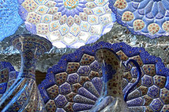 μπλε πιάτα σχεδίων Στοκ Φωτογραφίες