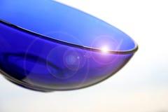 μπλε πιάτο γυάλινο Στοκ φωτογραφίες με δικαίωμα ελεύθερης χρήσης