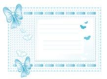 μπλε πλαίσιο υφασμάτων τόξ& Στοκ εικόνα με δικαίωμα ελεύθερης χρήσης