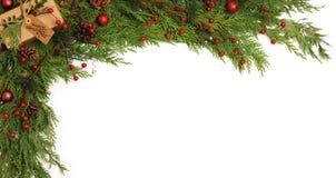 μπλε πλαίσιο Χριστουγέν&nu Στοκ Φωτογραφία