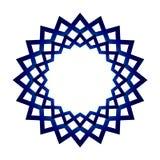 Μπλε πλαίσιο mandala Στοκ Φωτογραφίες